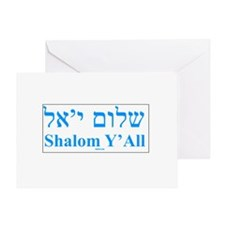 Shalom Y'All English Hebrew Greeting Card