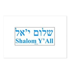 Shalom Y'All English Hebrew Postcards (Package of
