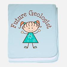 Future Geologist Girl baby blanket