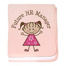 Future HR Manager Girl baby blanket