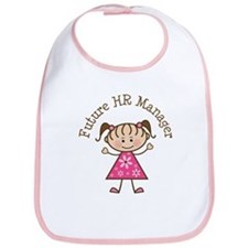 Future HR Manager Girl Bib
