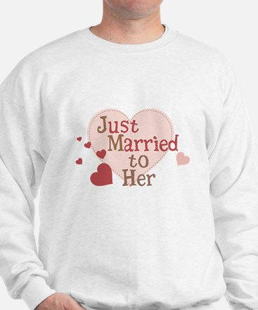 Groom Just Married Sweatshirt