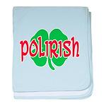 Polirish Clover baby blanket