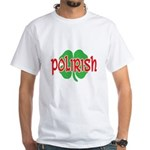 Polirish Clover White T-Shirt