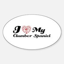 I love My Clumber Spaniel Decal