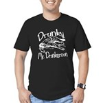 Drunky McDrunkerson White Men's Fitted T-Shirt (da