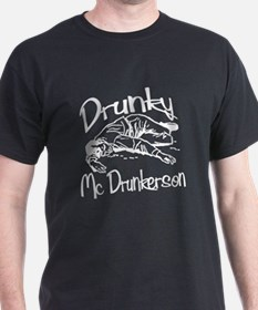 Drunky McDrunkerson White T-Shirt