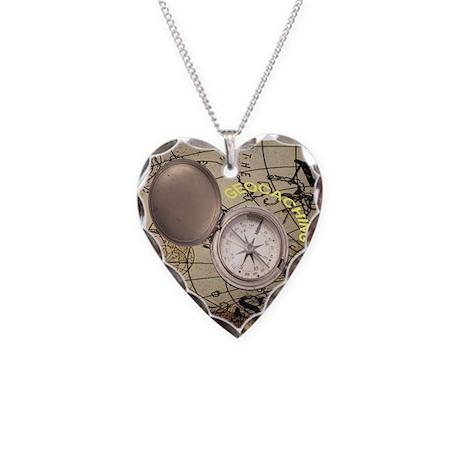 Geocacher Necklace Heart Charm