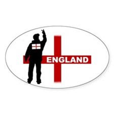 England football fan Oval Decal