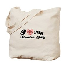 I love My Finnish Spitz Tote Bag