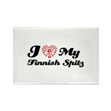 I love My Finnish Spitz Rectangle Magnet (100 pack