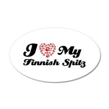 I love My Finnish Spitz 38.5 x 24.5 Oval Wall Peel