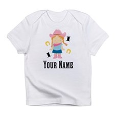 Personalized 1st Birthday Cowgirl Infant T-Shirt