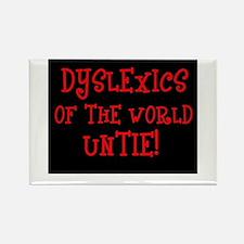 Dyslexics Untie! Rectangle Magnet