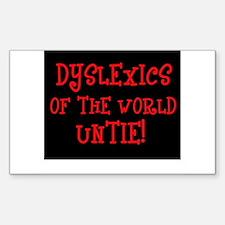Dyslexics Untie! Rectangle Bumper Stickers