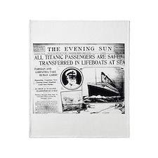 All Passengers Safe! Throw Blanket