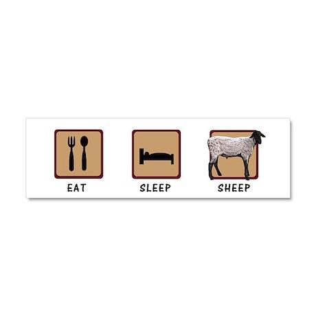Eat Sleep Sheep Car Magnet 10 x 3