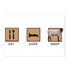 Eat Sleep Sheep Postcards (Package of 8)