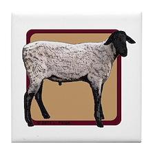 Eat Sleep Sheep Tile Coaster