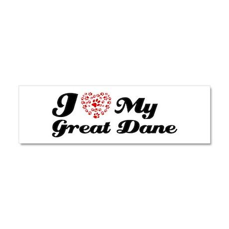 I love My Great Dane Car Magnet 10 x 3