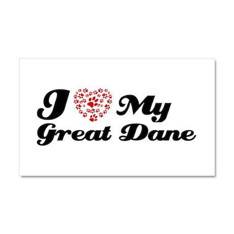 I love My Great Dane Car Magnet 20 x 12