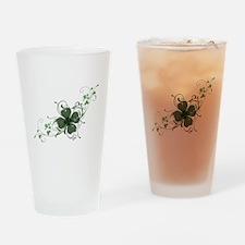 Elegant Shamrock Drinking Glass