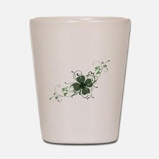 Elegant Shamrock Shot Glass