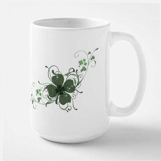 Elegant Shamrock Large Mug