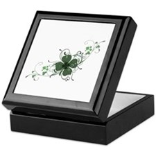 Elegant Shamrock Keepsake Box