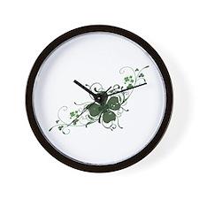 Elegant Shamrock Wall Clock