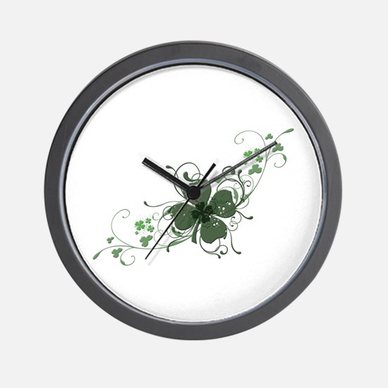 Elegant Shamrock Wall Clock