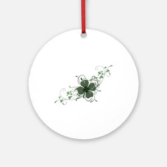 Elegant Shamrock Ornament (Round)