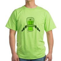 St Patrick's Day Beer Banner Green T-Shirt