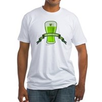 St Patrick's Day Beer Banner Fitted T-Shirt