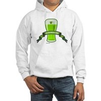St Patrick's Day Beer Banner Hooded Sweatshirt