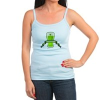 St Patrick's Day Beer Banner Jr. Spaghetti Tank