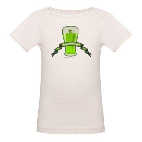 St Patrick's Day Beer Banner Organic Baby T-Shirt