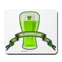 St Patrick's Day Beer Banner Mousepad