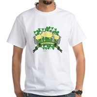 St Patrick's Day Tripple Beer Banner White T-Shirt