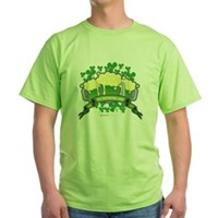 St Patrick's Day Tripple Beer Banner Green T-Shirt