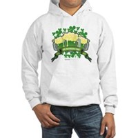 St Patrick's Day Tripple Beer Banner Hooded Sweats