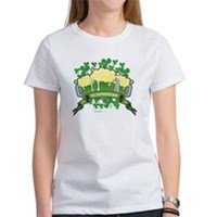 St Patrick's Day Tripple Beer Banner Women's T-Shi