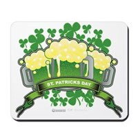 St Patrick's Day Tripple Beer Banner Mousepad