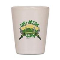 St Patrick's Day Tripple Beer Banner Shot Glass