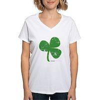 Vintage Clover Women's V-Neck T-Shirt