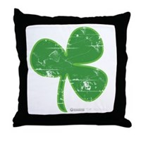 Vintage Clover Throw Pillow