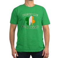 Fight Me Im Irish Clover Flag Men's Fitted T-Shirt