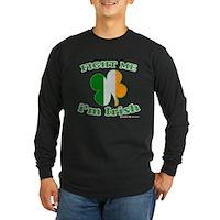 Fight Me Im Irish Clover Flag Long Sleeve Dark T-S
