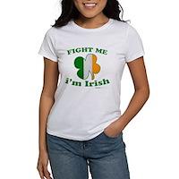 Fight Me Im Irish Clover Flag Women's T-Shirt