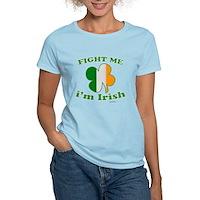 Fight Me Im Irish Clover Flag Women's Light T-Shir